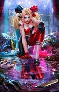 Harley Quinn Et Le Joker, Harley Quinn Drawing, Marvel Dc, Harey Quinn, Chica Gato Neko Anime, Hugo Strange, Arte Dc Comics, Sr1, Comics Girls