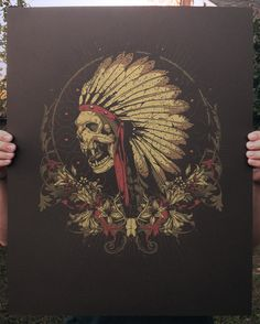 "Anonymous Ink & Idea — ""Mescal Rite"" - Limited Edition Art Print"