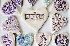 (via Craft Queue / Easy craft - make gift tags using salt dough and stamps. Great potential for holiday themes!)