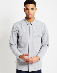 Levi's Long Sleeve Commuter Workshirt Grey | Shop men's clothing at The Idle Man