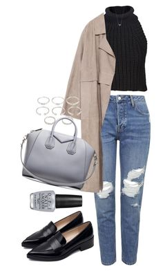"""""""Untitled #1627"""" by deleanorr-inspired ❤ liked on Polyvore featuring Topshop, OPI, Zara, Alexander Wang, Forever 21, Givenchy and Shashi"""