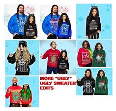 """More Ugly Ugly Sweater Edits✖️Bored"" by black-onyxx ❤ liked on Polyvore"