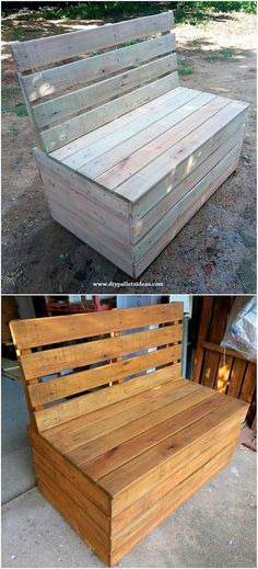 Sumptuous DIY Pallet Projects You Can Try Today!: Do you sometime feel hesitate in avoid using the shipping wood pallets as they are expensive and would take enough time in terms. Wood Pallet Couch, Wood Pallet Wine Rack, Wood Pallet Planters, Pallet Dog Beds, Pallet Dining Table, Wooden Pallet Projects, Reclaimed Wood Furniture, Wooden Pallets, Wooden Diy