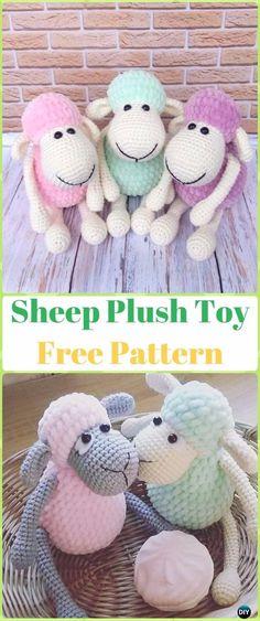 Crochet Sheep Plush Toy Amigurumi Free Pattern - Crochet Sheep Free Patterns