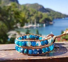 Mavi Akik Deri Bileklik Bracelets, Summer, Jewelry, Fashion, Moda, Summer Time, Jewlery, Jewerly, Fashion Styles