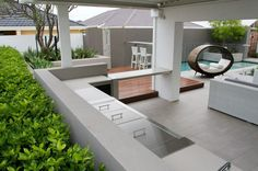 TDL Tim Davies Landscaping Perth Western Australia Alfresco Area, House Styles, Australia House, Garden Living, Outdoor Kitchen, Outdoor Deco, Outdoor Living, Outdoor Design, Dream Backyard
