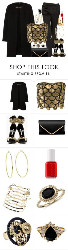 """Untitled #3017"" by fashion-nova ❤ liked on Polyvore featuring Burberry, Altuzarra, Brian Atwood, Lauren Ralph Lauren, Yves Saint Laurent, Essie and Blue Nile"