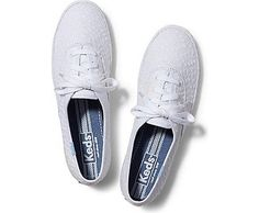 d68bf6e2f4d8f9 Keds Champion Eyelet (white) Flat Lace Up Shoes
