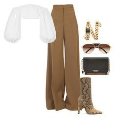 A fashion look from March 2018 featuring off-shoulder crop tops, STELLA McCARTNEY and bootie boots. Browse and shop related looks. Cute Casual Outfits, Stylish Outfits, Look Fashion, Korean Fashion, Mode Ootd, Mode Kpop, Looks Chic, Kpop Fashion Outfits, Polyvore Outfits