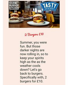 2 #GBK #burgers for only £10 through their #app. Offer ends on 25th September 2016.