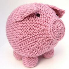"""A round and cuddly Pig, about 5"""" tall and 5"""" wide. He stands on his four legs through the power of yarn engineering and there isn't even any wire making his tail curl. This is a very popular pattern with pig lovers of all ages."""