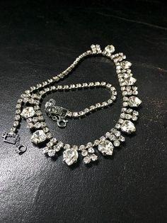 Crystal Wedding Necklace Vintage Party Necklace by FribblePistol