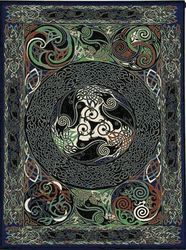 Ravens Panel tapestry - Abstract & Modern Tapestries and Wall Hangings