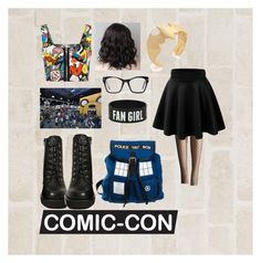 """""""COMIC CON CUTIE"""" by weberjulia ❤ liked on Polyvore featuring WearAll, Allegra K, Jeffrey Campbell, Spitfire and Noir"""