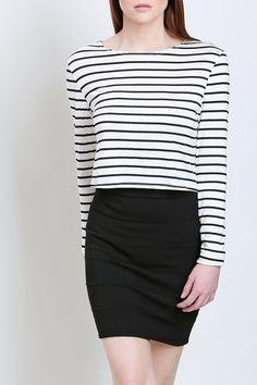 Parisian Striped Crop Top | No Rest For Bridget