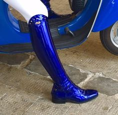 Wow. I'd wear these out! Boot Crush: It's all About the Details Secchiari Royal Patent Riding Boots – £720 at Equiclass
