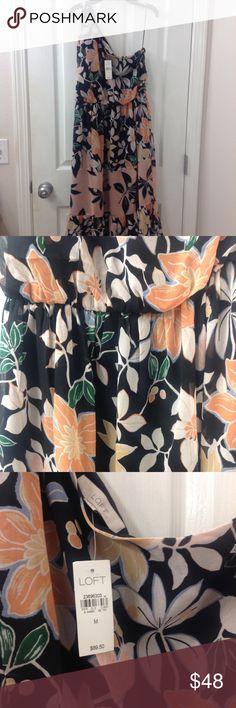 Beautiful Floral, One Shoulder Loft Dress