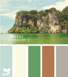 Pallette called mental vacation...i need one soon. Nice combo though!