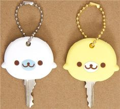 Mamagoma key cover charm white and yellow