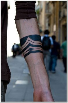 Armband tattoos are shaped like bands though there may be slight variations depending upon the design element chosen by the bearer. - Part 7