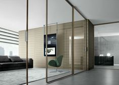VELARIA - Designer Internal doors from Rimadesio ✓ all information ✓ high-resolution images ✓ CADs ✓ catalogues ✓ contact information ✓ find. Glass Office Doors, Glass Pocket Doors, Sliding Glass Door, Sliding Doors, Glass Doors, Glass Walls, Unique Living Room Furniture, Italian Doors, Interior Desing