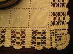 Αποτέλεσμα εικόνας για bico de croche de canto para toalha de mesa