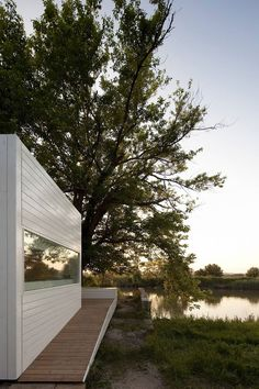 Appleton & Domingos, a Lisboa, Portuga-based architectural firm, designed this tiny house for modular home builder Jular. At just 474 sq. ft., the Treehouse Riga may have a small footprint, but it's big on style…