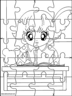 Printable jigsaw puzzles to cut out for kids Hamtaro 20 Coloring Pages
