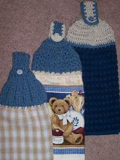 Christinanthemum's Crafts: Improvizing - Topped Kitchen Towels