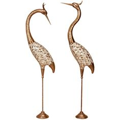 I pinned this 2 Piece Desdemona Crane Statue Set from the Outdoor Decor event at Joss and Main!
