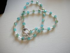 Crystal cube beads Crystal necklace Turquoise by KarsJewellery, €18.00