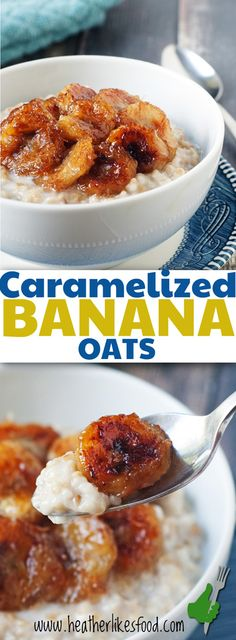 These Caramelized banana oats are creamy, sweet and are the perfect filling breakfast when you're feeling a little indulgent.