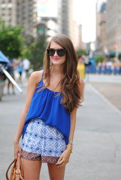 Summer outfit… embellished shorts