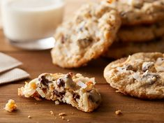 Chocolate Chip Treasure Cookies Easy Chocolate Chip Cookies, Semi Sweet Chocolate Chips, Cookie Recipes, Snack Recipes, Dessert Recipes, Snacks, Dessert Bars, Great Desserts, Delicious Desserts
