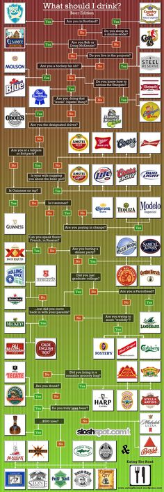This infographic created by Eating the Road, a blog dedicated to showing what to eat where, provides information on what beer to choose depending on w