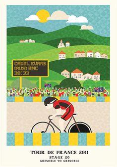 Tour de france 2011 - Cadel winning in Grenoble