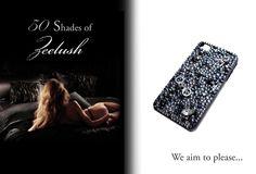 50 shades inspired Swarovski cellphone cover, by Zeelush (zeelush.com)