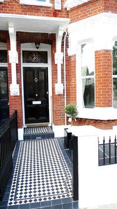 Victorian entrance tiles