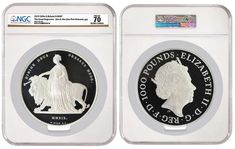 NGC-certified 2019 2 Kilo Silver 'Una and the Lion' Offered in First-Ever Sale Secondary Market, Lion Design, First Ever, World Coins, Effigy, Rare Coins, Initials, Silver, Money