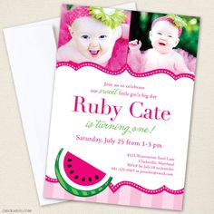 Watermelon party invitation