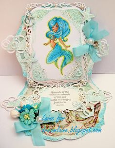 Dream Laine: Dont Be Square - Use a Shaped Card for Totally Papercrafts Challenge