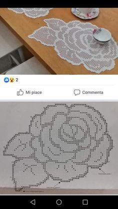 Filet Crochet, Crochet Doily Diagram, Crochet Square Patterns, Crochet Motif, Crochet Doilies, Crochet Flowers, Crochet Lace, Crochet Stitches, Cross Stich Patterns Free