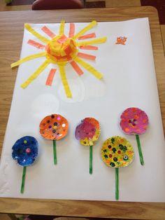 Spring flower kid craft
