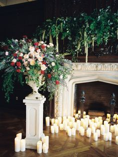 Candle quantity. Photography: Abby Jiu Photography   abbyjiu.com Floral Design: Amaryllis   amaryllisdesigns.com Venue: The Phillips Collection    www.phillipscollection.org/   View more: http://stylemepretty.com/vault/gallery/38529