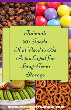 Tutorial: 20+ Foods that need to be repackaged for long-term storage | via www.TheSurvivalMom.com