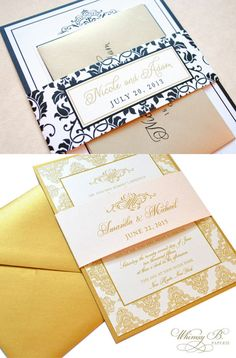 Wedding stationery fit for royalty! | http://www.weddingpartyapp.com/blog/2014/08/29/6-notable-etsy-wedding-invitation-designers/