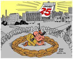 "Image by Carlos Latuff السيسي"" يغلق الميادين.. كاريكاتير كارلوس لاتوف"