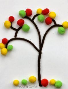 Tüylü çubuklar (pipe cleaner) renkli boncuklar,renkli ponponlar kullanabiliriz.