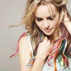 Bridgit Mendler  random rainbow ombre
