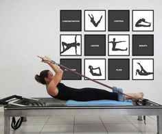 PILATES POSTER Set of 12 Pilates Poster Pilates Art Print